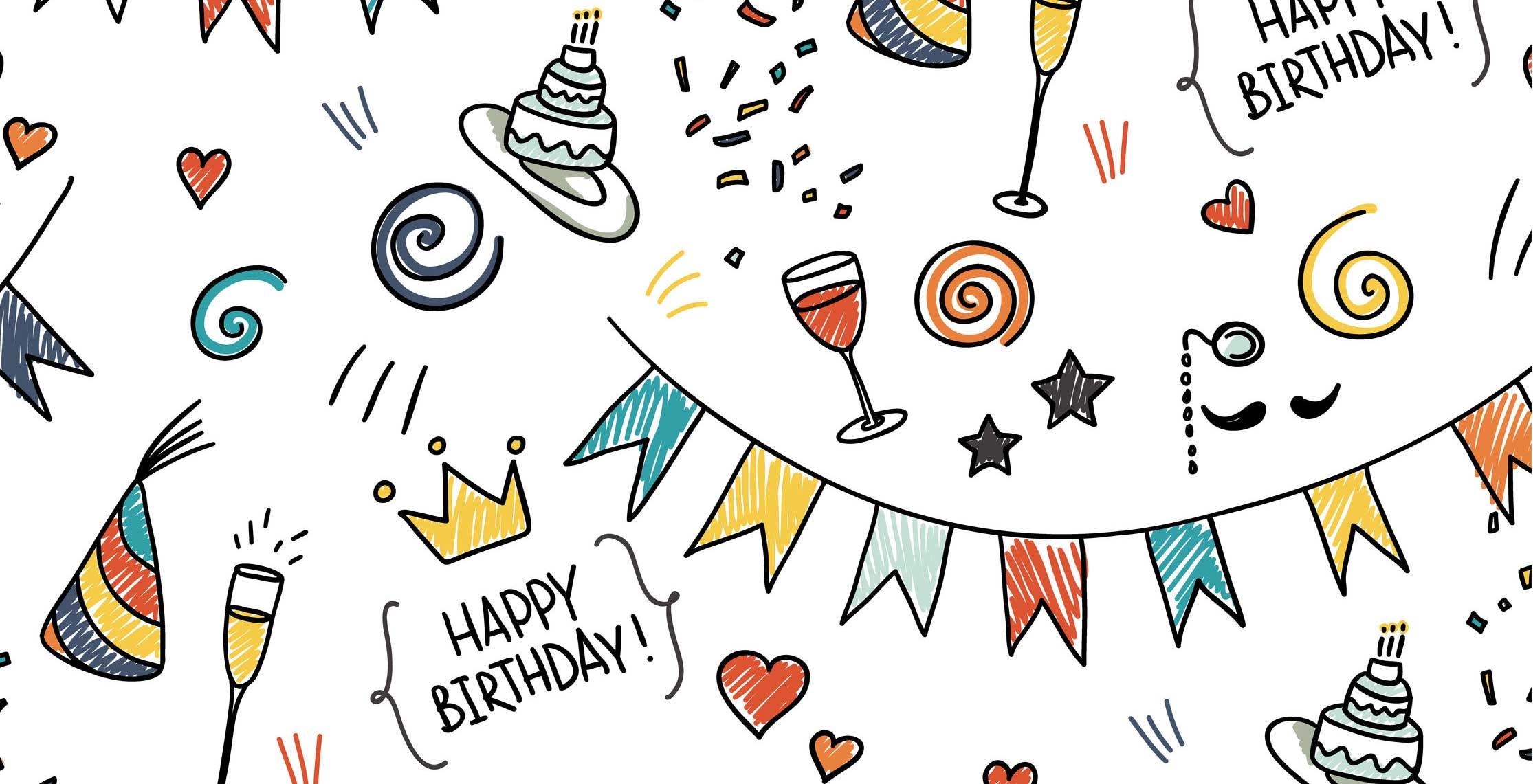 День рождения открытка для мужчин в векторе