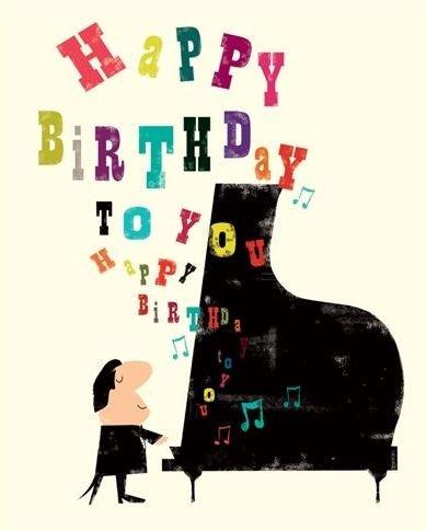 Открытка с днём рождения пианисту 73