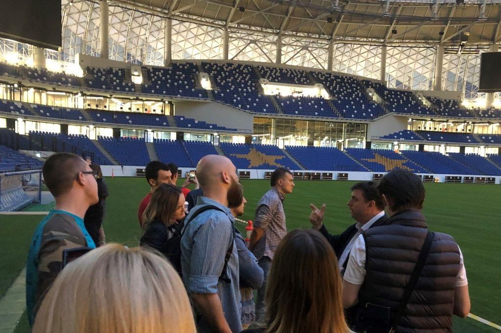 Изучение инфраструктуры стадионов